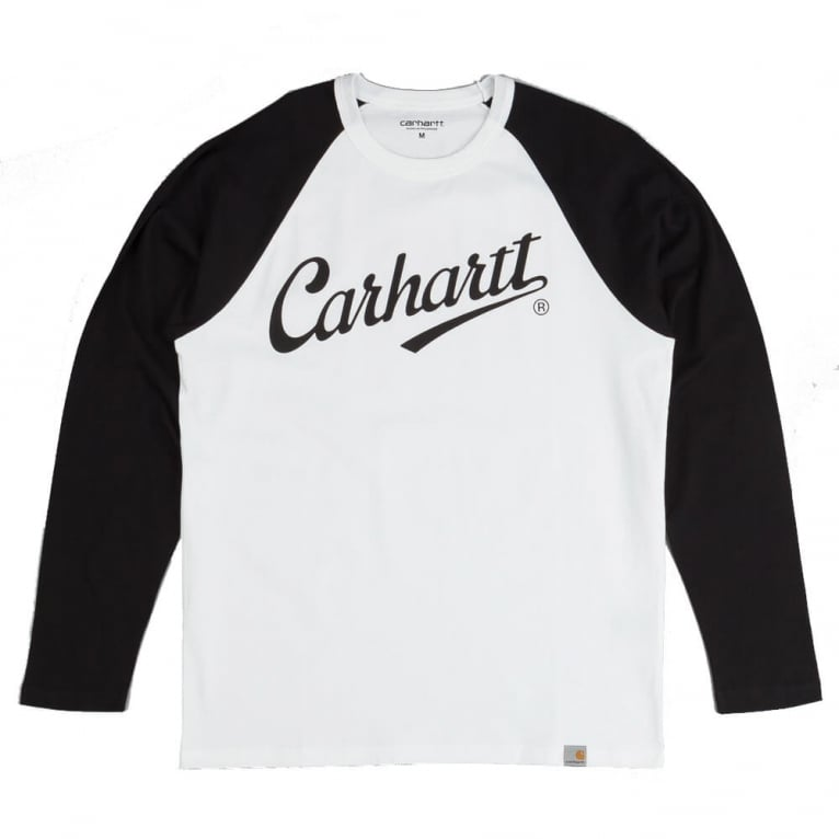 Carhartt league long sleeve tee white black natterjacks for Carhartt long sleeve t shirts white