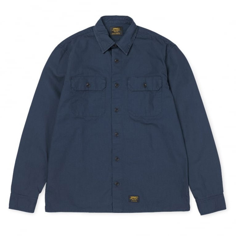 Carhartt WIP Mission Shirt - Navy Rinsed