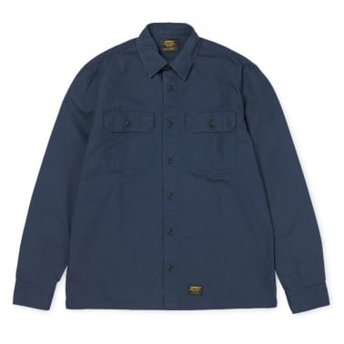 Mission Shirt - Navy Rinsed