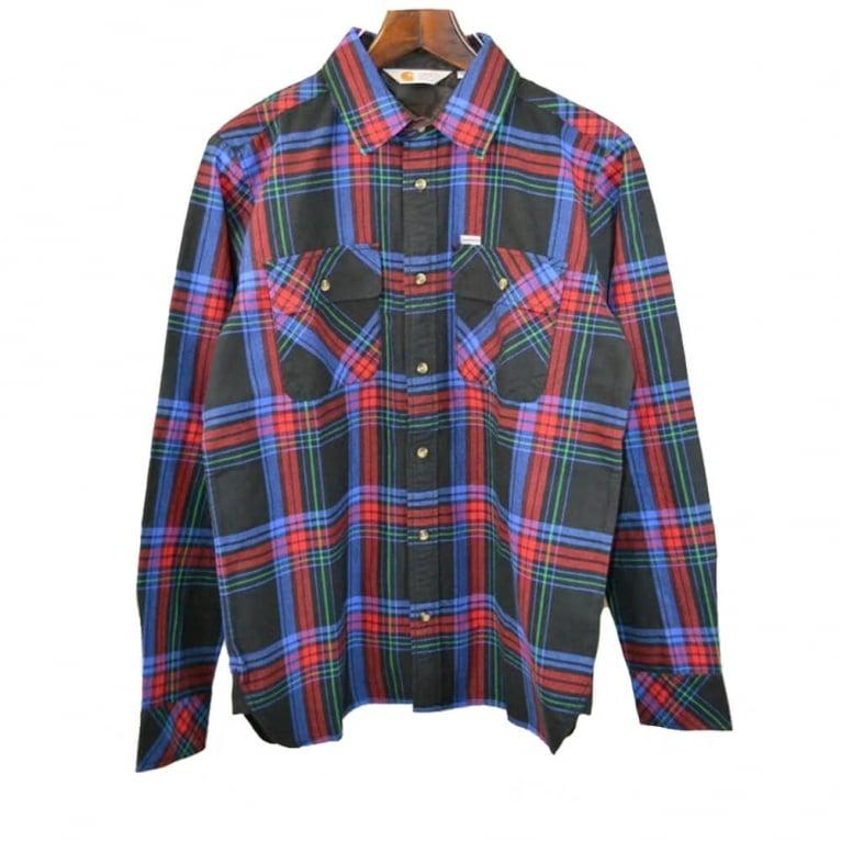 Carhartt WIP Pullford Shirt - Blue Check
