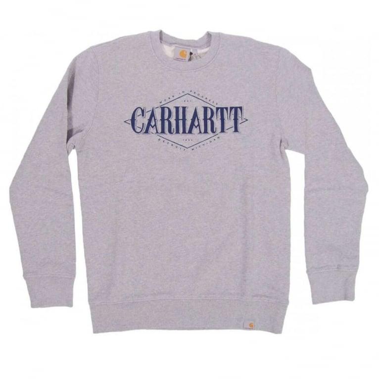Carhartt WIP Rhomb Crewneck Sweatshirt - Grey Heather