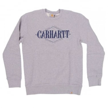 Rhomb Crewneck Sweatshirt - Grey Heather