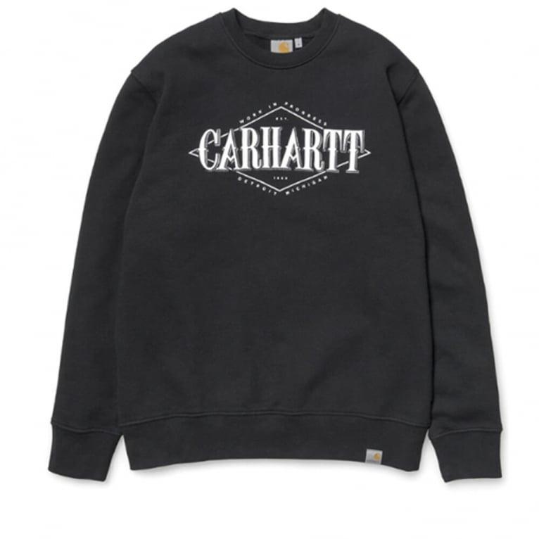 Carhartt WIP Rhomb Crewneck Sweatshirt - Prune/White