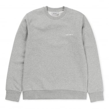 Script Embroidered Sweatshirt