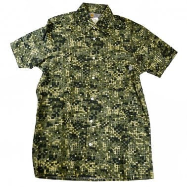 Short Sleeve Camo Print Shirt