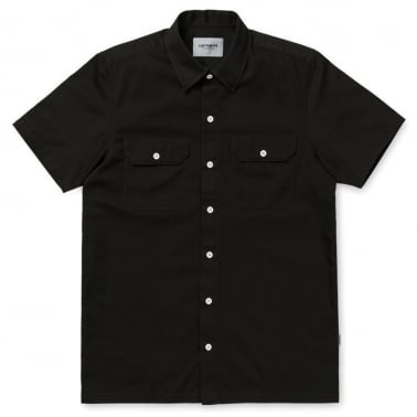 764d936e00 Short Sleeve Master Shirt - Black. Carhartt WIP ...