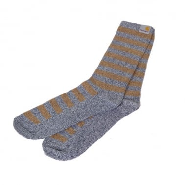 Striped Socks Blue/brown