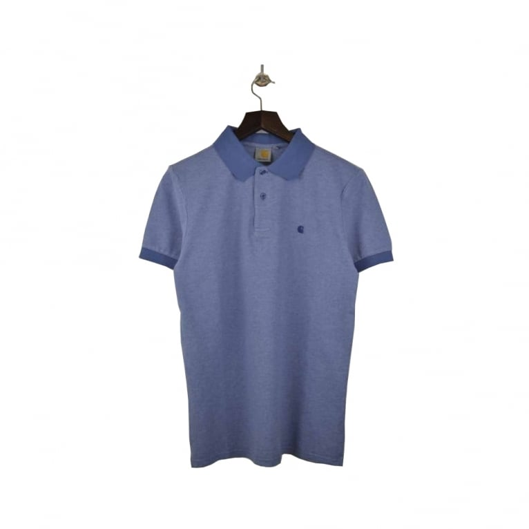 Carhartt WIP Traver Polo - Blue Heather