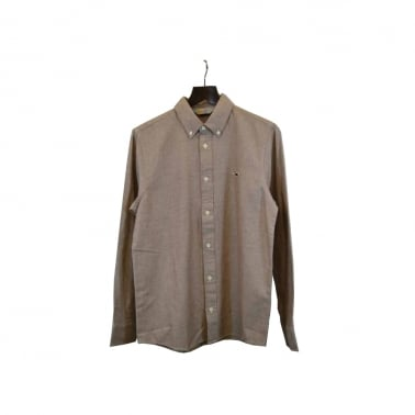 Tweed L/S Shirt Rust
