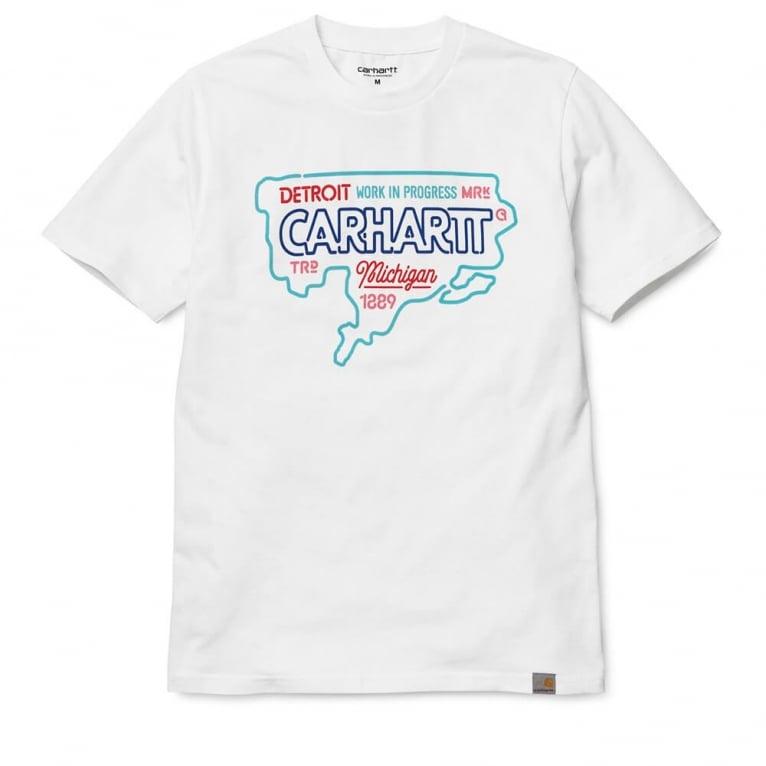 Carhartt WIP USA Neon Tee - White