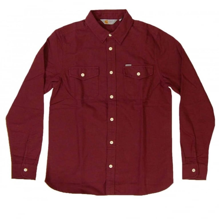Carhartt WIP Vendor Shirt - Wine Heather