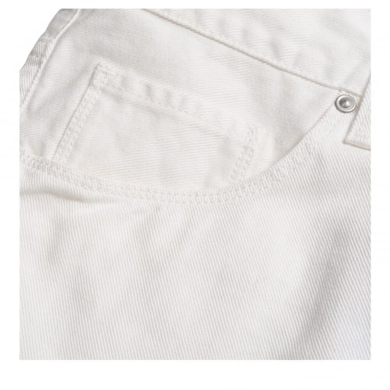 Carhartt WIP Vicious Dickens Pant - White Rinsed