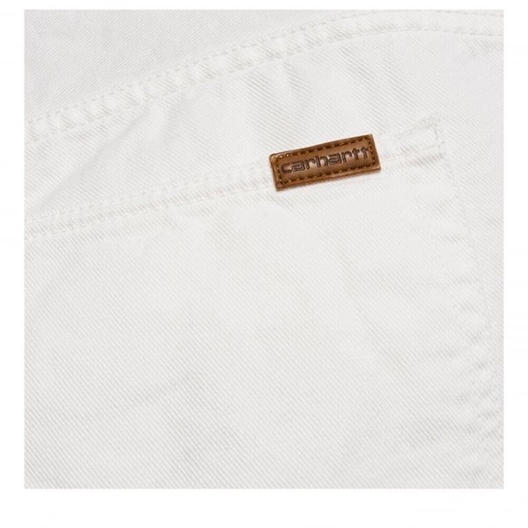 Carhartt WIP Vicious Dickens Pant - White Rinsed