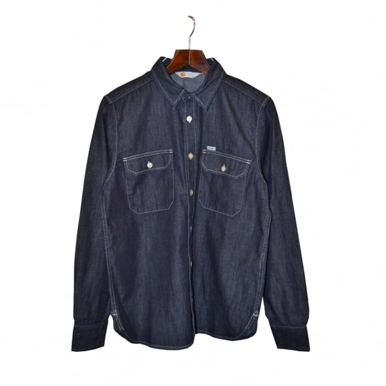 Carhartt WIP Wing Ls Shirt Blue Rinsed