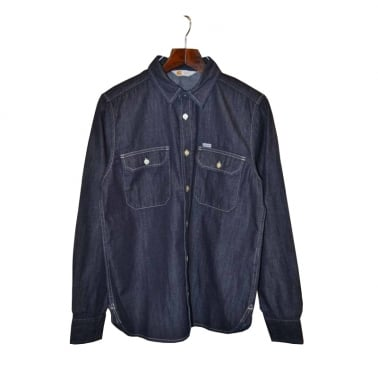 Wing Ls Shirt Blue Rinsed