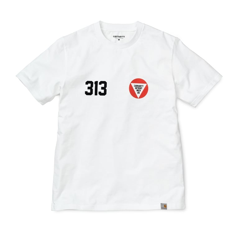 Carhartt WIP York Tee - White/Black