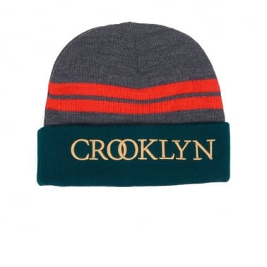 Crooklyn Beanie - Grey/forest