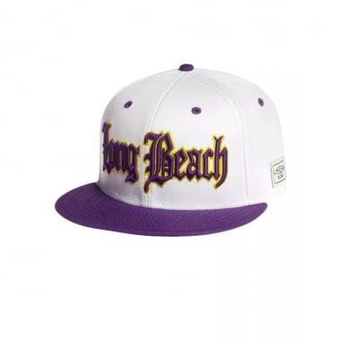 Long Beach Snapback - White/Purple
