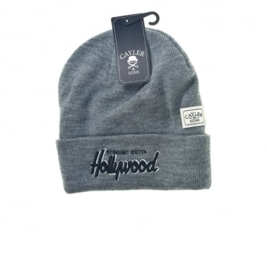 Straight Outta Hollywood Beanie - Grey/Black