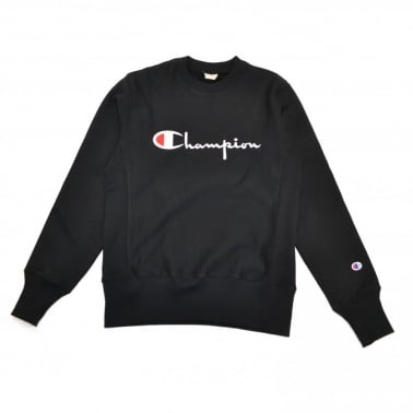 Fleece Lined Box Logo Crew Sweatshirt