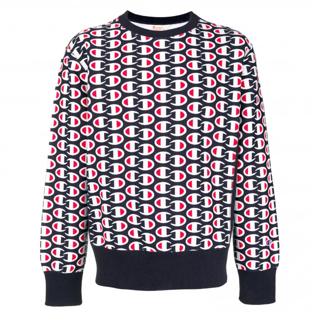 8197bd8687d6 Champion Fleece Lined C All Over Sweatshirt