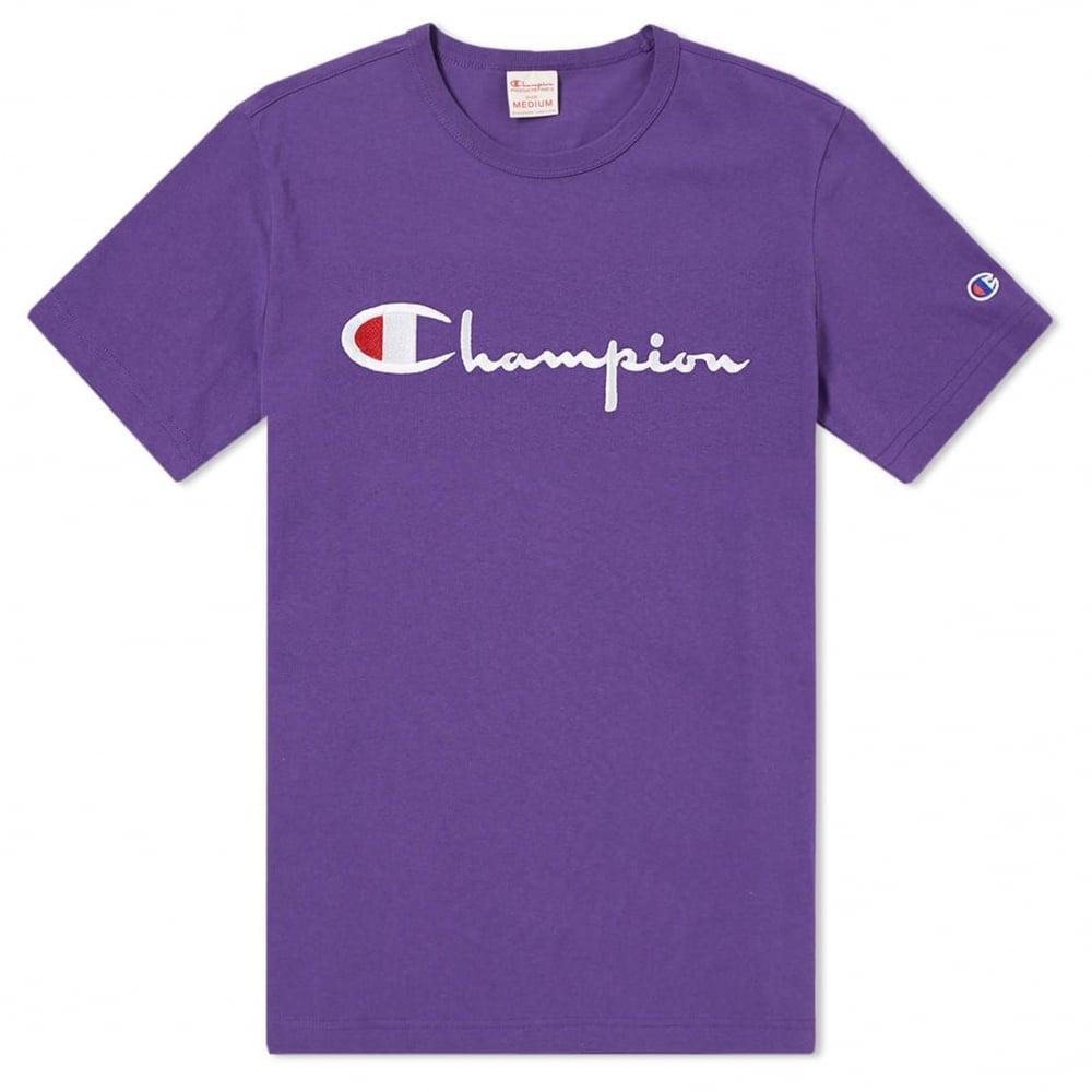 a7c24c4c Champion Script Embroidered T-Shirt | Clothing | Natterjacks