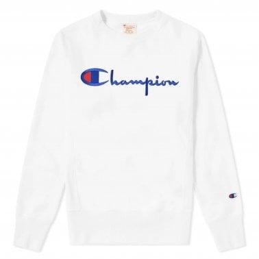 5c55418e96d Script Logo Crewneck Sweatshirt