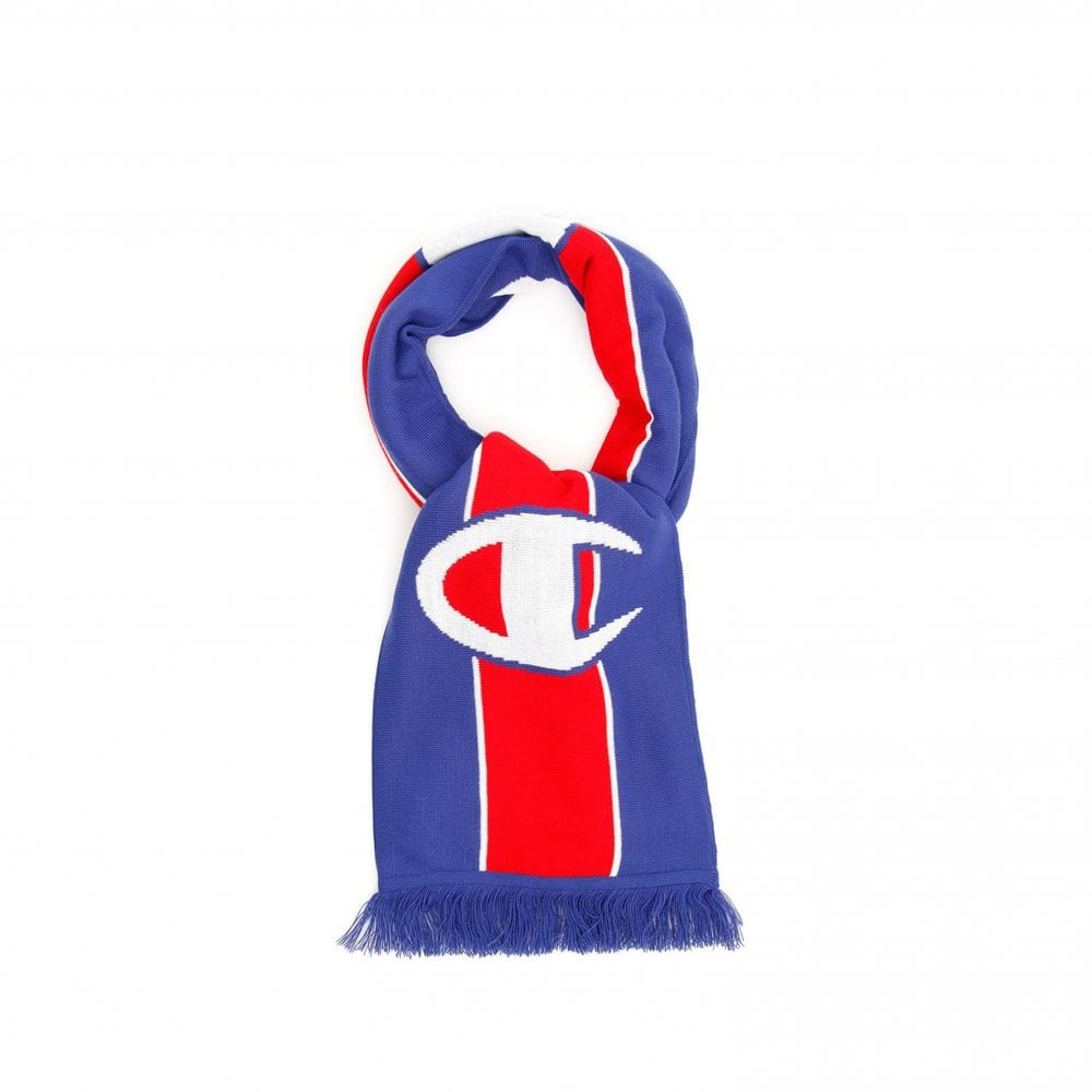 125aab11e90 Stripe Scarf - Blue Red