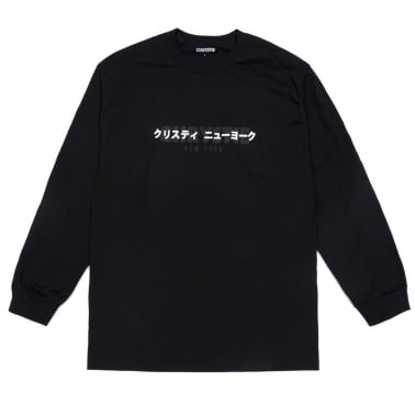 Chrystie OG + Japan Logo Long Sleeve T-Shirt - Black