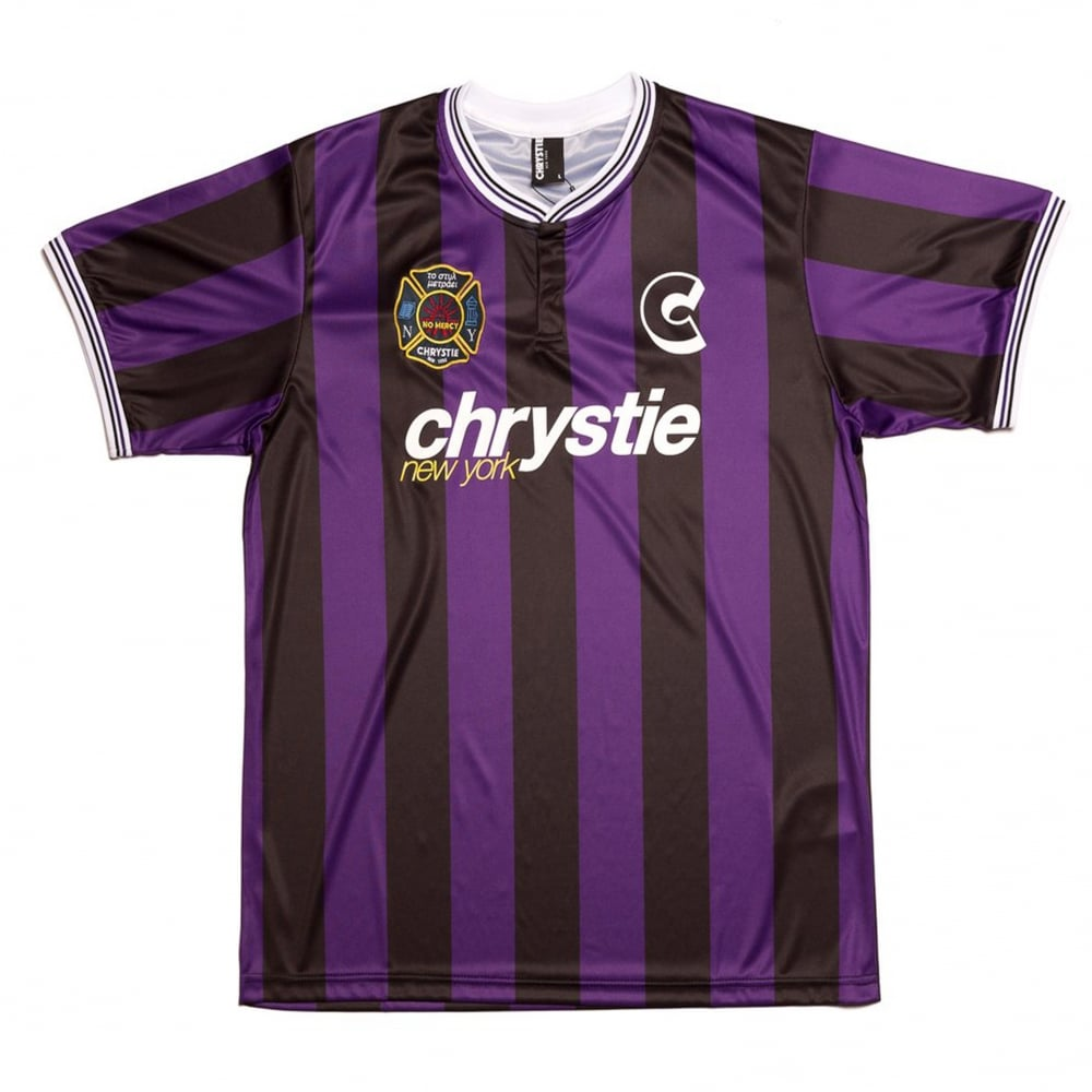watch ffb68 72781 Chrystie Soccer Jersey - Black/Purple