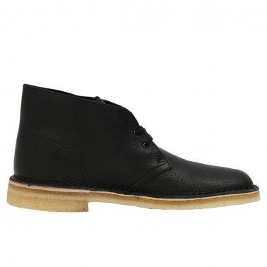 Desert Boot Black Tumbled Leather