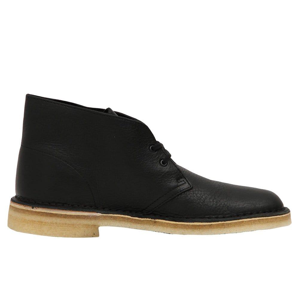 clarks desert boot black tumbled leather innovaide