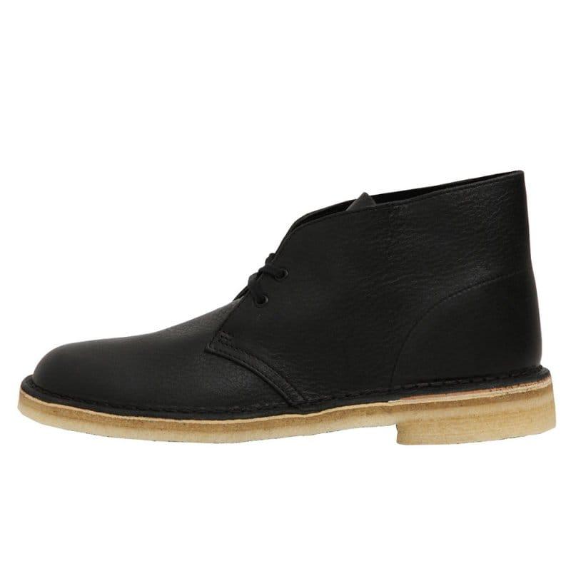 clarks desert boot black tumbled leather natterjacks