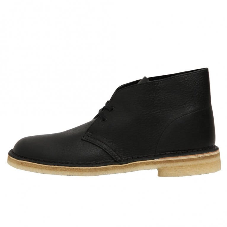 Clarks Originals Desert Boot Black Tumbled Leather