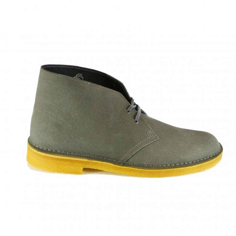 clarks desert boot in grey suede natterjacks