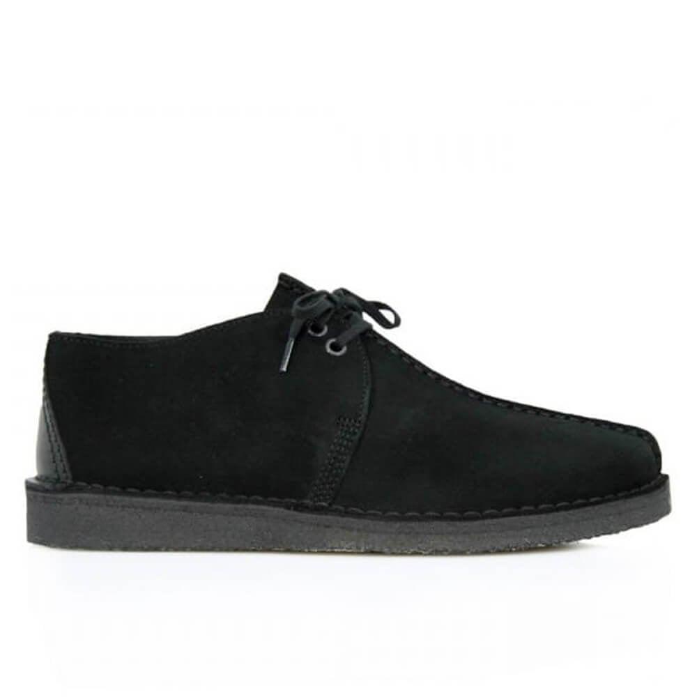 Clarks Desert Trek Shoes Black Suede