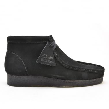 Wallabee Boot - Black Suede