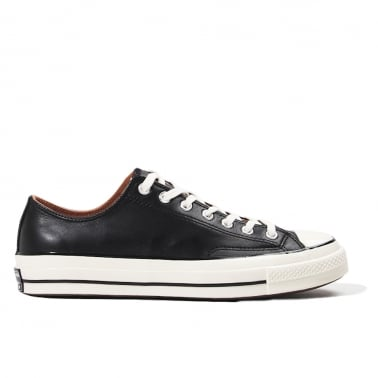 All Star 70's Leather Ox - Black/Egret