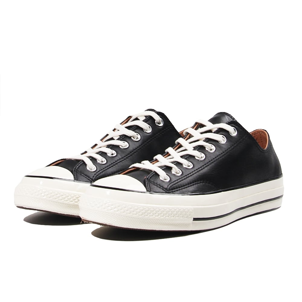 converse 70s. all star 70\u0026#039;s leather ox - black/egret converse 70s