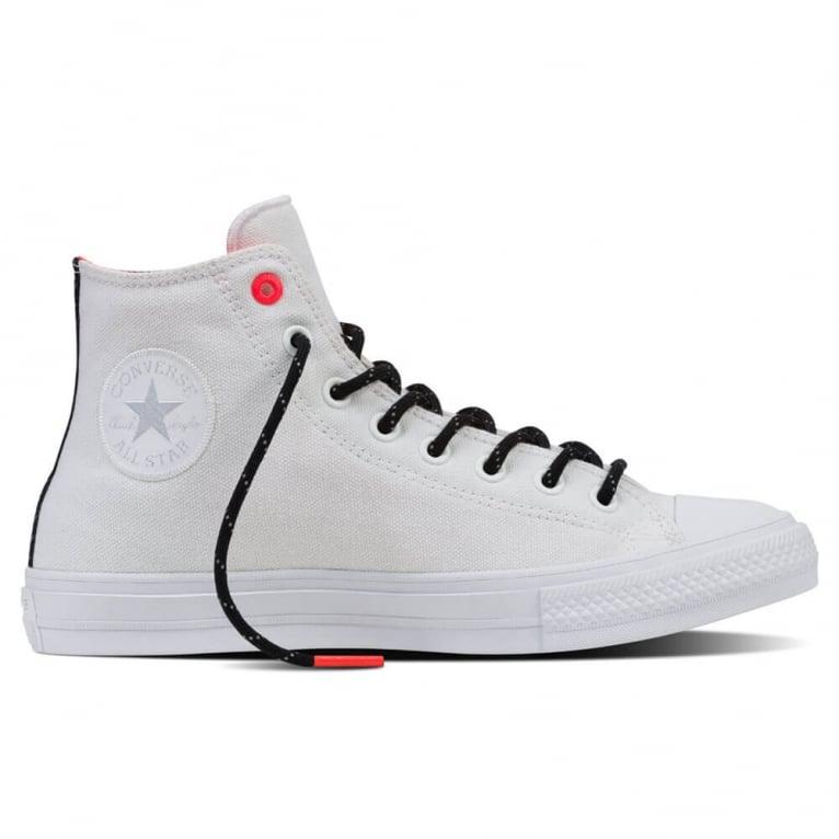 Converse All Star Canvas Chuck II Shield - White/Lava