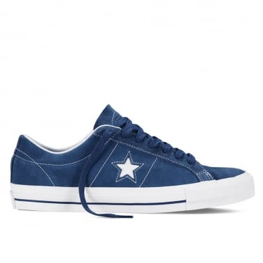 One Star Skate - Navy/White