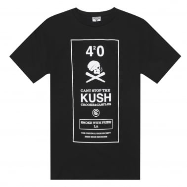 420 Kush Box T-shirt - Black
