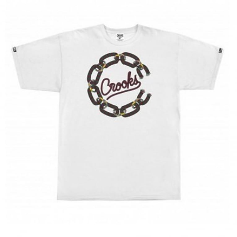 Crooks & Castles Chain Cordage T-shirt - White