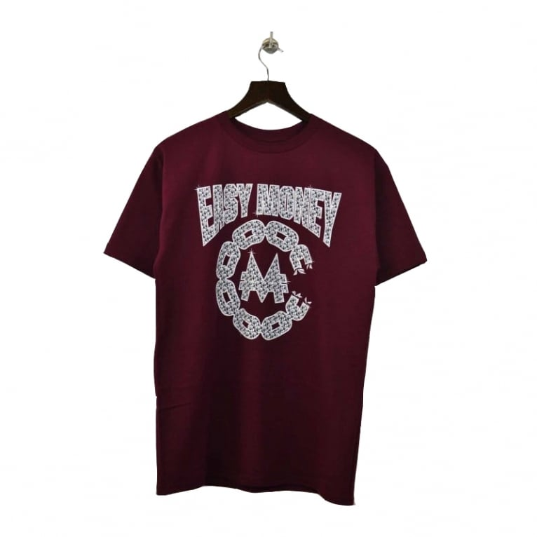 Crooks & Castles Easy Money T-shirt - Burgundy