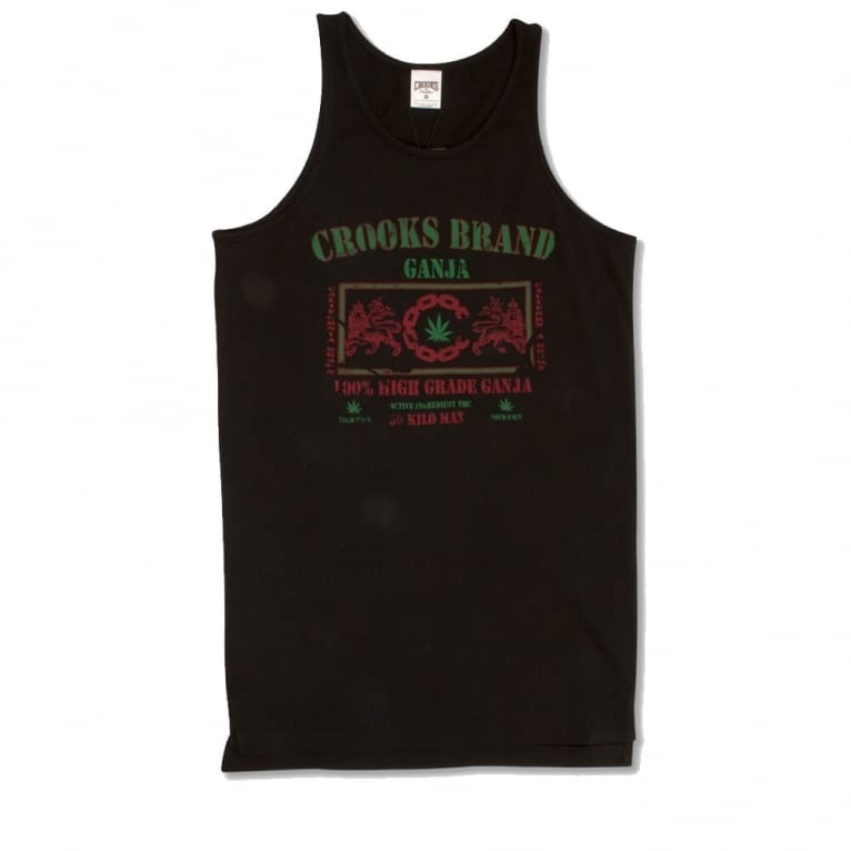 Crooks & Castles Ganja Tank Top - Black