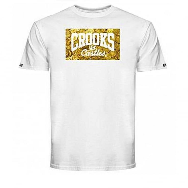 Crooks & Castles Gettin' Guap T-shirt - White