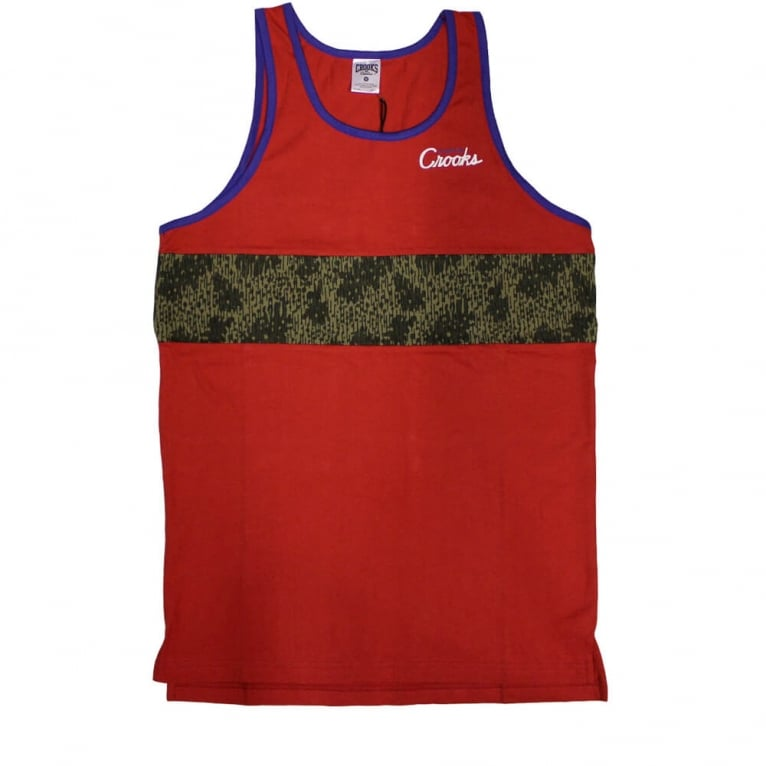 Crooks & Castles Jungle Tank Top - True Red