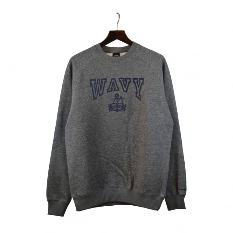 Crooks & Castles L.A Wavy Crewneck Sweatshirt - Grey Speckle