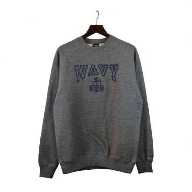L.A Wavy Crewneck Sweatshirt - Grey Speckle