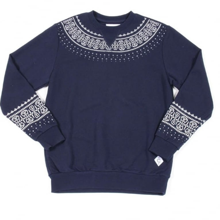 Crooks & Castles Native Crewneck Sweatshirt - True Navy